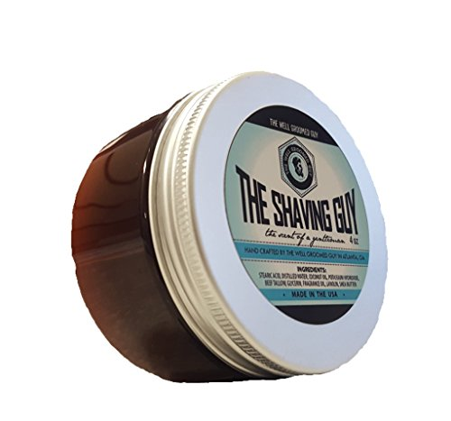 Premium Shaving Soap By The Well Groomed Guy - All Natural Rich Lather Soap For a Classic, Smooth Shave - Tallow Glycerin & Lanolin For Perfect Skin Care - Citrus, Lavender & Sandalwood Scented