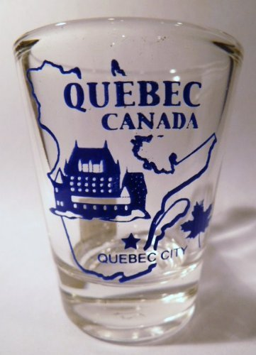 Quebec Canada (11 in Series of 13) Shot Glass. Collect All! qeca