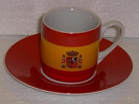 Taza de café con la bandera de España: Amazon.es: Hogar