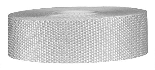 Strapworks Lightweight Polypropylene Webbing - Poly Strapping Outdoor DIY Gear Repair, Pet Collars – 1.5 Inch x 50 Yards, White
