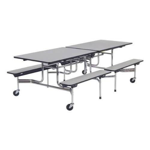 Virco MTB17298 Mobile Bench Cafeteria Table (8' L x 29