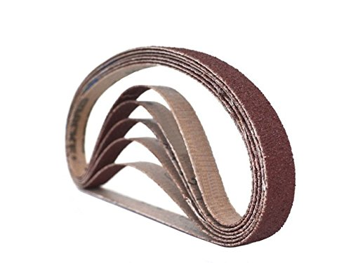 1/2 Inch X 18 Inch Aluminum Oxide Sanding Air File Belts (24 Pack, 60 Grit)