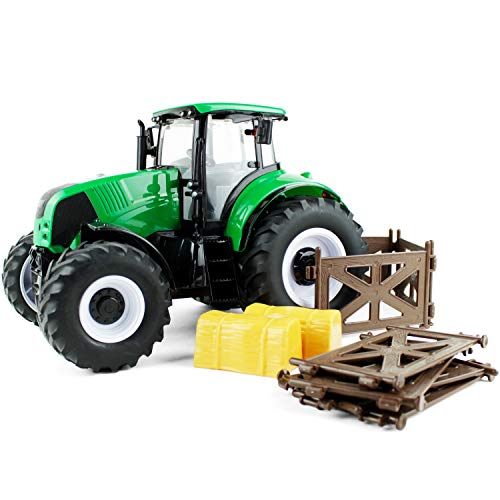 Boley Toys Children's Oversized Farm Tractor Car (Green) - Battery Powered Flashing Headlights and Farm/Engine Sounds (Farm Tractor Battery)
