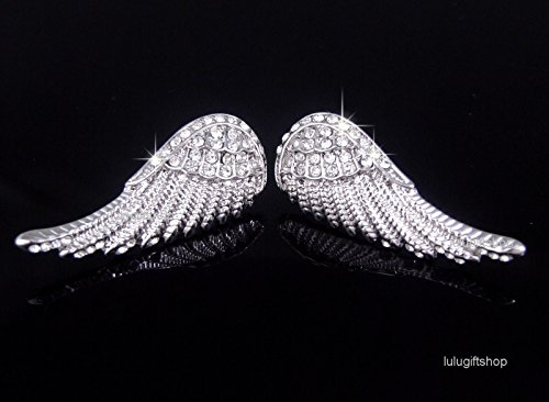 18K Real WHITE GOLD PLATED ANGEL BIRD WING
