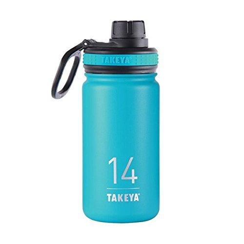 Takeya Originals Vacuum-Insulated Stainless-Steel Water Bottle, 14oz, Ocean