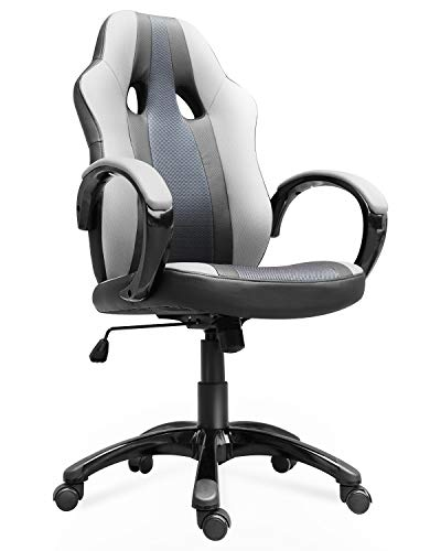 Smugdesk Office Chair, High Back Ergonomic Gaming Desk Chairs for Computer with Lumbar Support, Bonded Leather, Adjustable Swivel Comfortable Rolling Chair