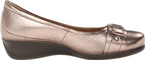 ECCO Womens Abelone Buckle Slip-On Warm Grey Metallic D5dahWI
