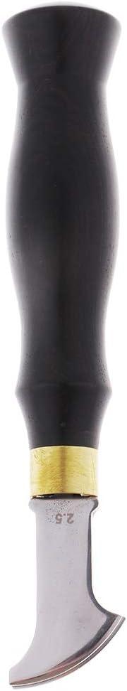 1mm 1 Piece Leather Edge Creaser Stainless Steel Ebony Press Edge Line Tool Leathercraft Tool