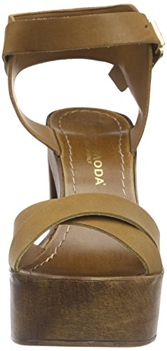 Vero Moda Vmbea Leather Sandal - Sandalias con plataforma Mujer Brown (Cognac)