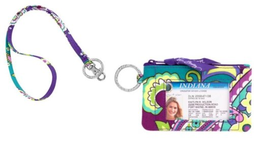 Vera Bradley Zip ID Case and Lanyard in Heather by Vera Bradley ()