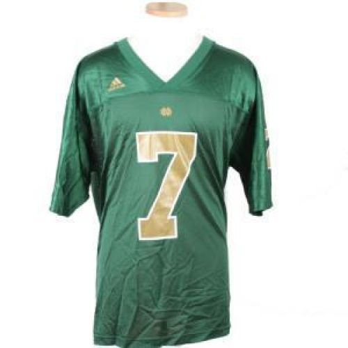Notre Dame Fighting Irish Replica Adidas Fb Jersey - Green #7 - Men - (Adidas Notre Dame Irish Replica Football)
