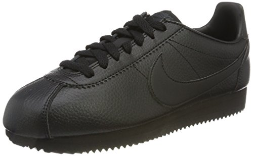 Schwarz Noir anthracite En Classique Herren Nike Cortez Sneaker Cuir Leder xPqFWzX