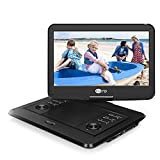"""14"""" HD Portable DVD Player with 1920x1080 IPS LCD Screen, 178° Viewing Angles, 4000mAh Rechargeable Battery, Support USB/SD, AV in & Out, Region Free"""