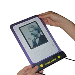 """New Version TrendyDigital WaterGuard Waterproof Case for Kindle 1, 2,3 (First, Second and Third Generation Kindle), Kindle Fire and other 6"""" or 7"""" Android Tablet (Purple)"""