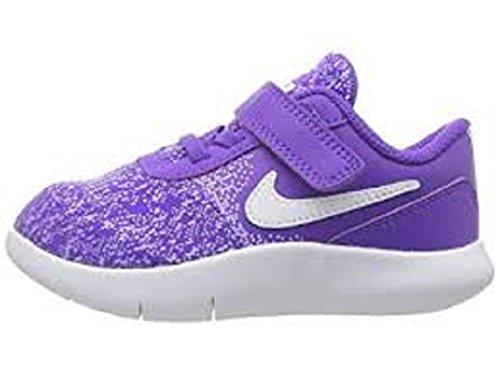 (NIKE Toddler Flex Contact (TDV) Hyper Grape White Purple Agate Size 2)