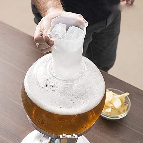 Dispenser di birra in argento a forma sferica da 3,5 litri