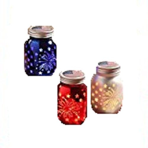 Americana Candle Holder - Bethany Lowe Americana Jar Luminary (Set of 3) LC7052