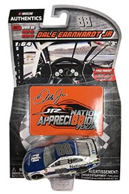 NASCAR Authentics Dale Earnhardt Jr. #88 Diecast Car 1/64 Scale - 2017 Wave 88 - Dale Earnhardt Jr. 2017 Nationwide with Appreci88ion Daytona Magnet - Collectible