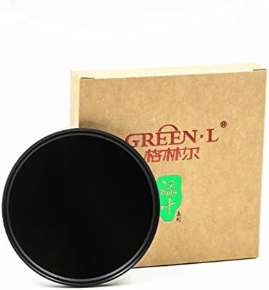 GREEN.L 62mm ニュートラルデンシティー ND8 レンズフィルター ニュートラルデンシティー 光学ガラス 3ストップ ND 8 62mm