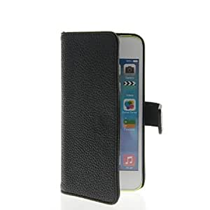 Viesrod MOONCASE Litchi Skin Flip Leather Wallet Card Pouch Stand Case Cover For Apple iPhone 5C Black