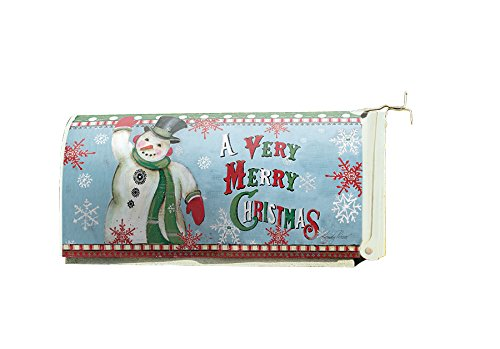 Lang - Magnetic, All-Weather, Standard-Size - Mailbox Cover - Merry Snowman, Exclusive Artwork by Kimberly Poloson by Lang