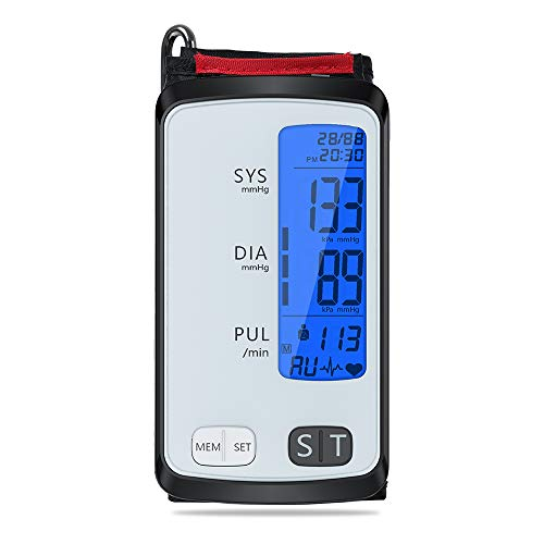 Blood Pressure Monitor Cuff Upper Arm. ALPHAGOMED Bluetooth BP Monitor with Integrated Automatic Digital APP. 2 * 90 Sets Memory Large LCD Backlight Display
