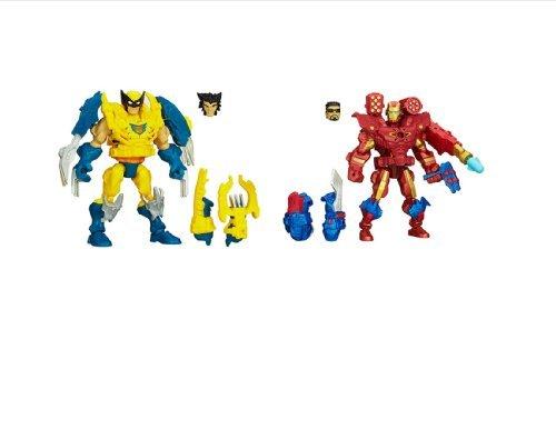 Marvel Bundle of 2 Super Hero Mashers Electronic Wolverine and Iron Man Figures (Marvel Super Hero Mashers Electronic Iron Man Figure)