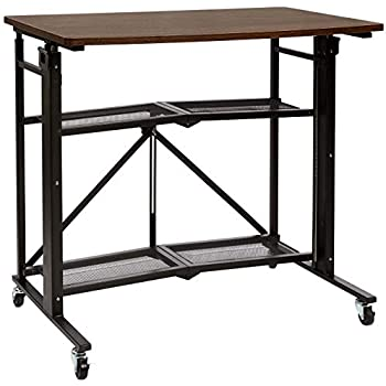 Amazon Com Amazonbasics Foldable Standing Computer Desk