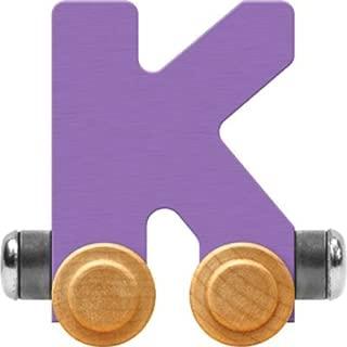 product image for Maple Landmark NameTrain Pastel Letter Car K - Made in USA (Lavender)