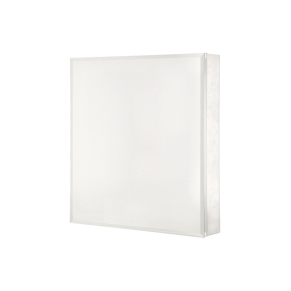 Pegasus SP4581 26-Inch by 20-Inch Surface or Recessed Mount Beveled Mirror Medicine Cabinet, Clear