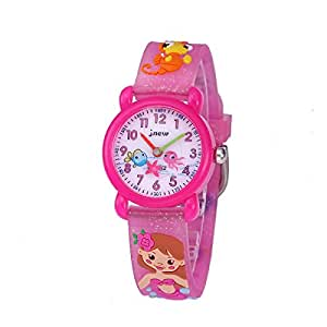 CakCity Kids Watches 3D Cute Cartoon Waterproof Silicone Children Toddler Wrist Watch Time Teacher Birthday Gift for 3-10 Year Boys Girls Little Child