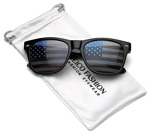 Kids Patriotic American Flag on Lenses Novelty Celebration Sunglasses for ages 3 to - Manufacturers Sunglass Usa