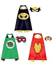 BJ-SHOP Capas de Superhéroes,Traje de superhéroe Niños Vestir Capas de niños y niñas Juguetes de superhéroe para cumpleaños y Disfraces de niños Fiesta