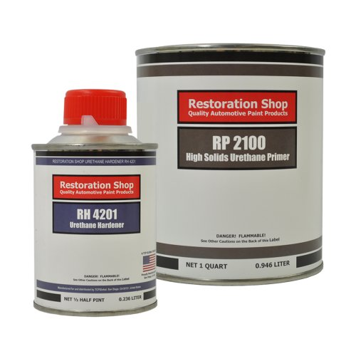 - Restoration Shop Low VOC High Solids Urethane Primer Quart Kit for Automotive Paint System