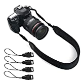 Camera Neck Strap, Ruittos DSLR Shoulder Strap Sling Belt Lanyard Neoprene Padded with Quick Disconnects for Lightweight Mirrorless Camera Sony A6000 A6300 A7 III A7,Fuji Fujifilm X-T20 (Black)