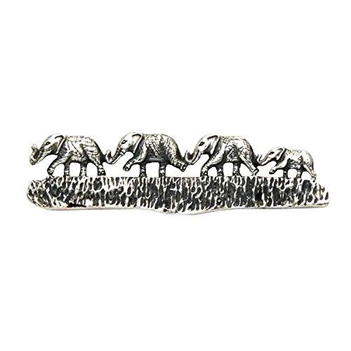 Sterling Silver Elephants Walking the Trail Pin