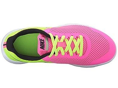 0c4232a8d7b5a Nike Kids Flex Experience 5 Big Kid Girls Running Shoes Pink Blast Volt  Black Metallic Silver 7 Big Kid M  Amazon.in  Shoes   Handbags