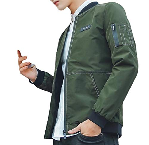 Energy Sleeve Pattern2 Men's Leisure Long Coat Collar Jacket Zip Pocket Stand Patched rq4HTFnqfw