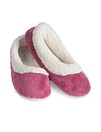 PajamaGram Women's Super Soft Fleece Slippers