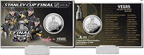 - The Highland Mint Vegas Golden Knights 2018 Stanley Cup Final Dueling Silver Coin Card