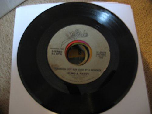 grandma got run over by a reindeer / percy, the puny poinsettia 45 rpm single (Elmo & Patsy Percy The Puny Poinsettia)