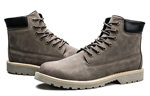 LINYI Men's Shoes Artificial Leather Workers Tooling Shoes Martin Boots Wedding Casual Shoes Grey MGkRjF
