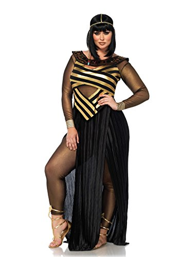 Leg Avenue Women's Plus Size Nile Queen Costume, Black/Gold, 3X-4X