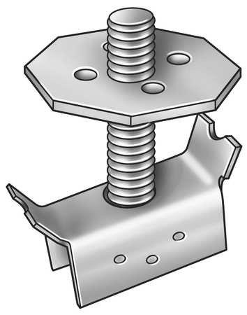Grating Clip, Mount, 1-2 Bar H, PK20