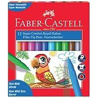 Faber-Castell 5068155130 Faber-Castell Super Comfort Keçeli Kalem, 12'li