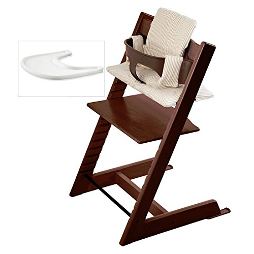 High Chair Walnut (Stokke Tripp Trapp High Chair Bundle, Walnut)