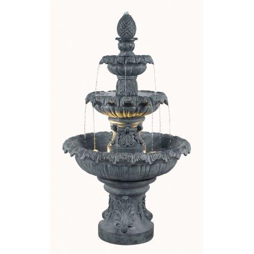 UPC 053392097028, Kenroy Home 53200ZC Costa Brava 46-Inch 56-Pound High Outdoor Fountain, Zinc Finish