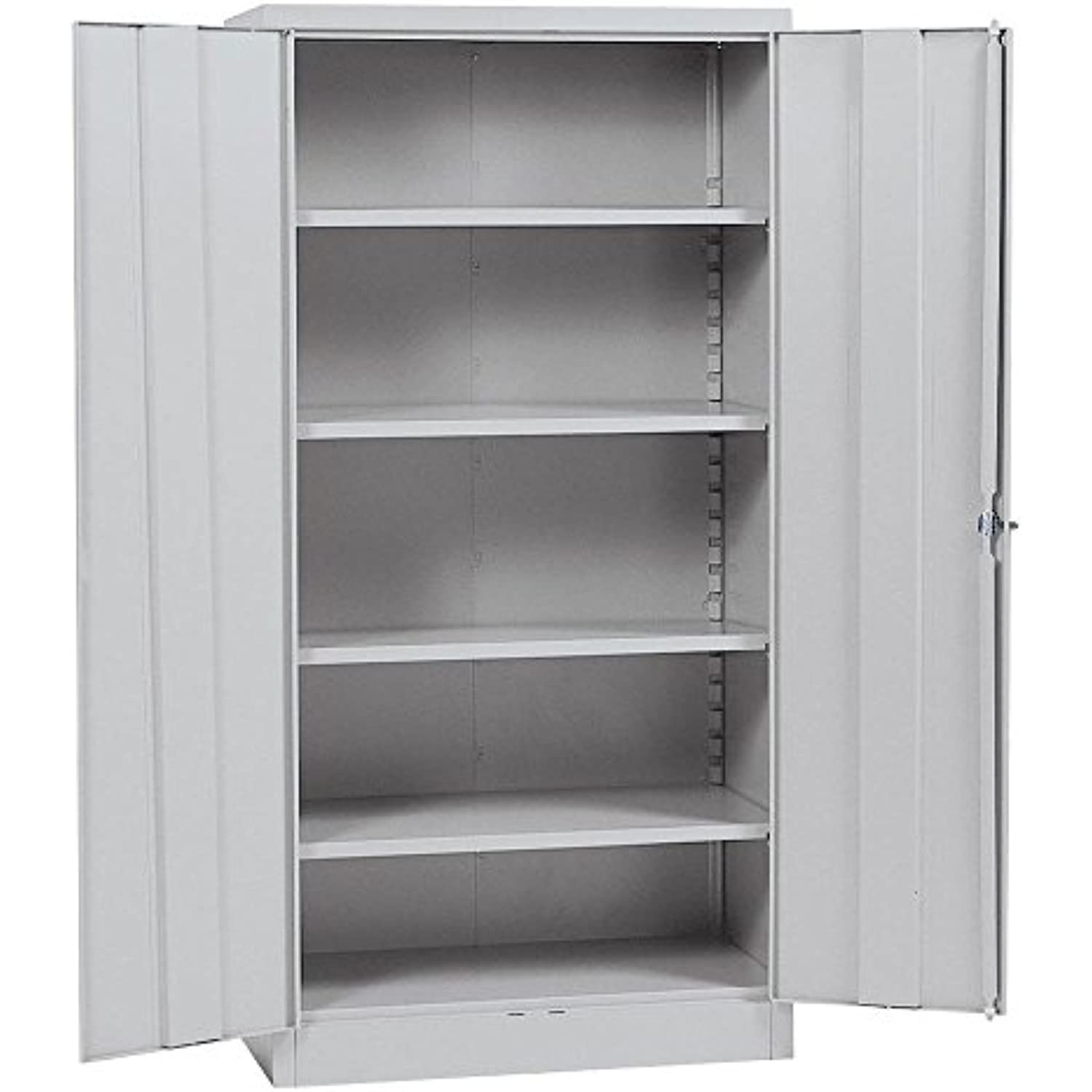 Quick Assembly Gray Steel Cabinet (Gray) (72H x 36W x 18D)