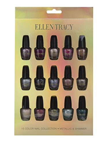 Ellen Tracy Metallic and Shimmer Collection Mini Nail Polish