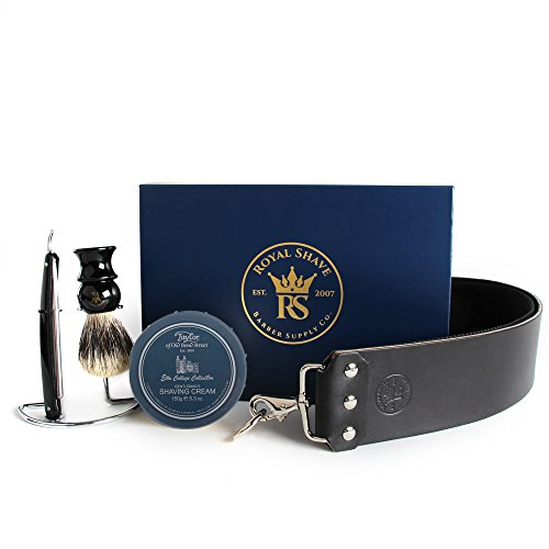 Dovo 5/8'' Half Hollow Best Quality Straight Razor Shaving Set (Eton College) by Dovo